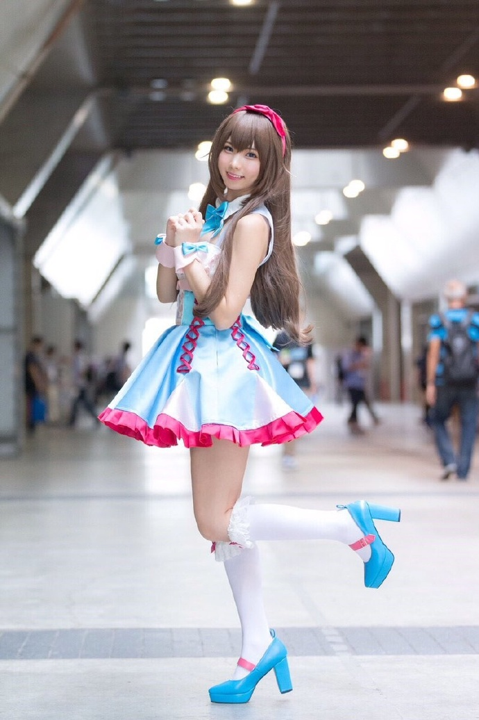 真的好可爱!Enako(えなこ)出席东京电玩展Cos图-看客路