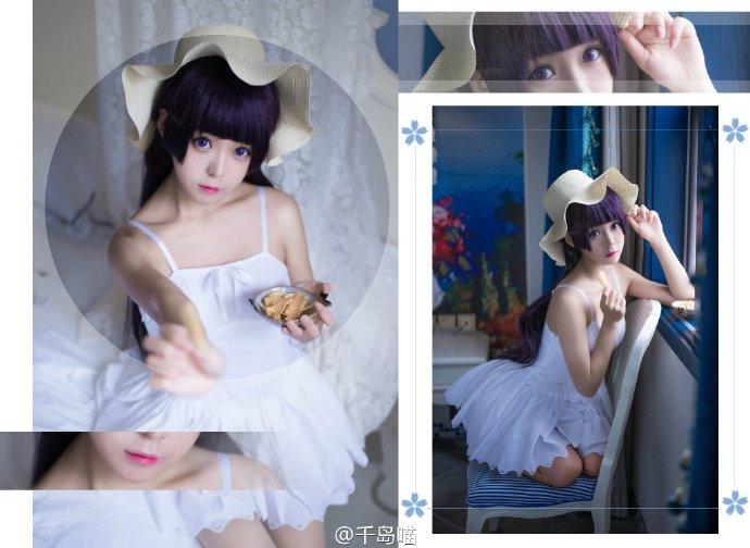 【cos】我的妹妹哪有这么可爱 五更琉璃白裙-看客路