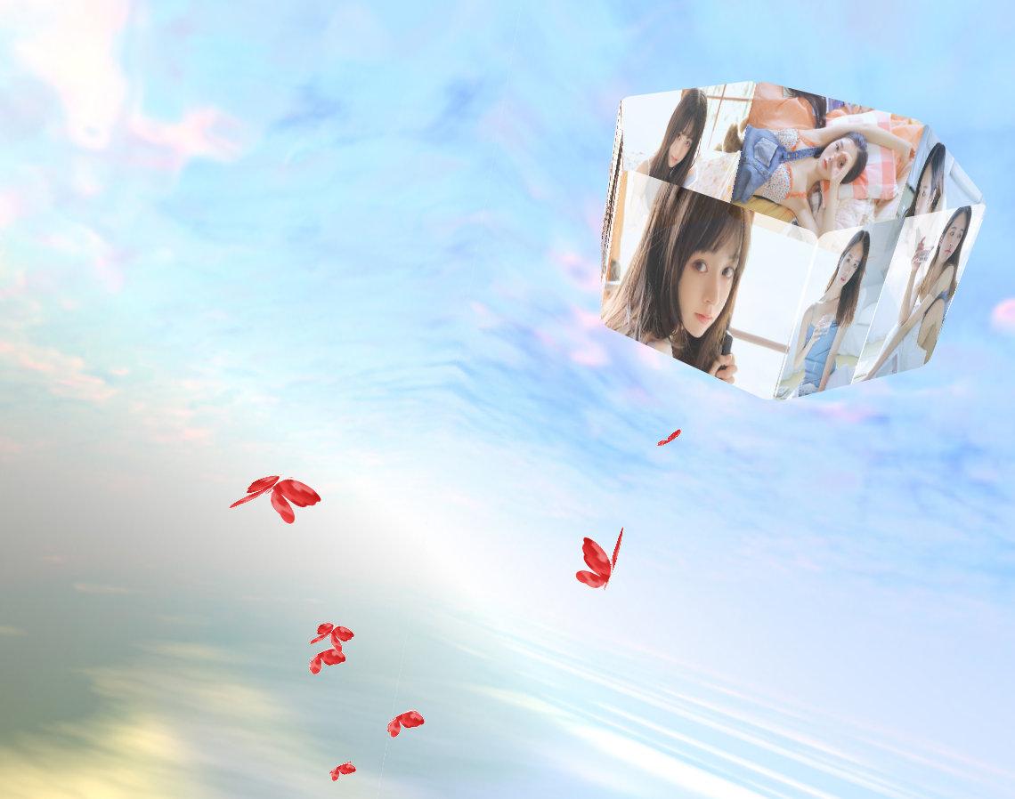 3D相册天空飞舞浪漫表白网