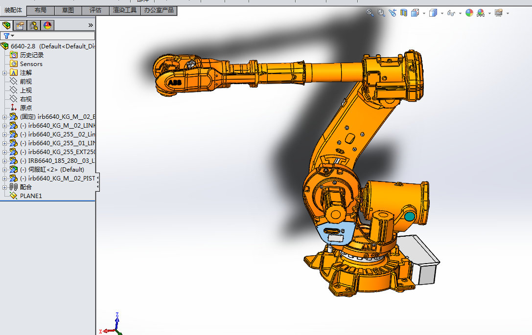 ABB工业机器人 3D模型