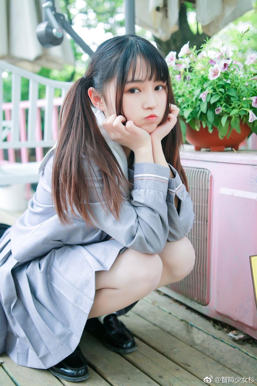 可爱双马尾萌妹子的JK制服 美女写真-第3张