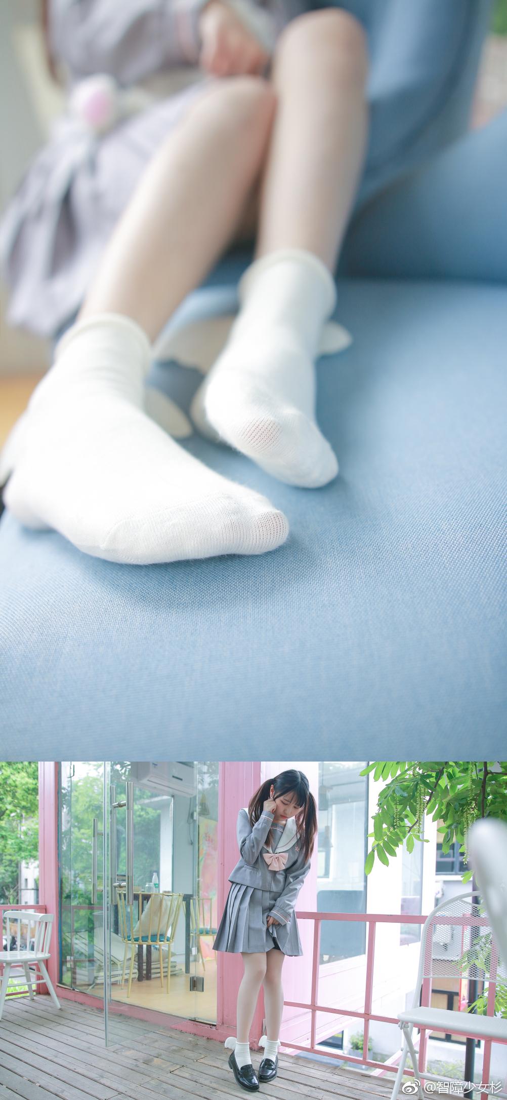 可爱双马尾萌妹子的JK制服 美女写真-第6张
