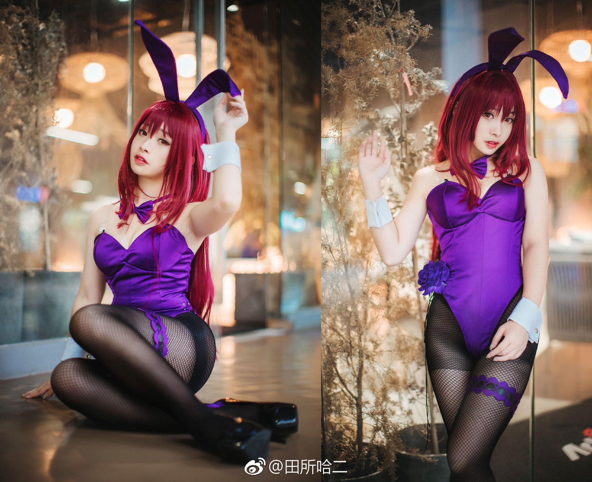 看不腻的黑丝,萌妹子的师匠兔女郎Cos(9P)
