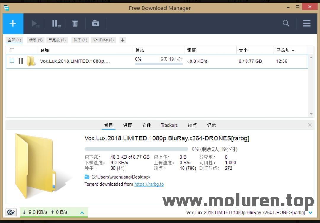 FDM一款无广告的下载软件_支持磁力链_批量下载_断点续传等