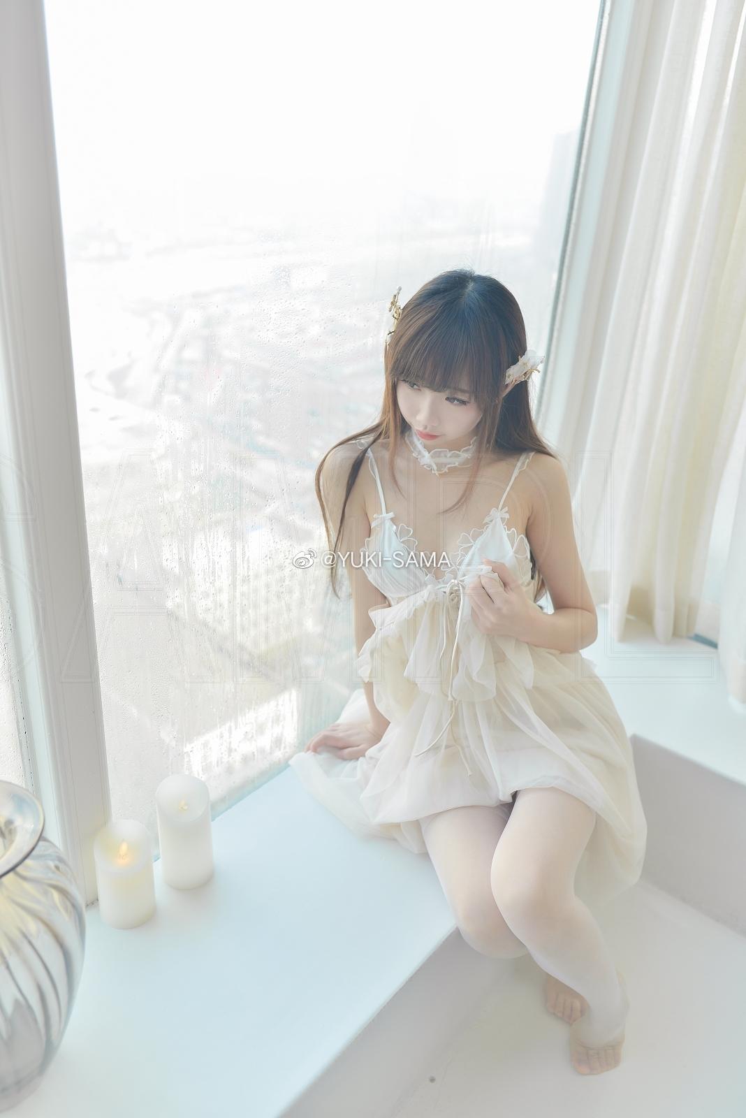 雪琪SAMA的淫纹白丝吊带袜(8P)