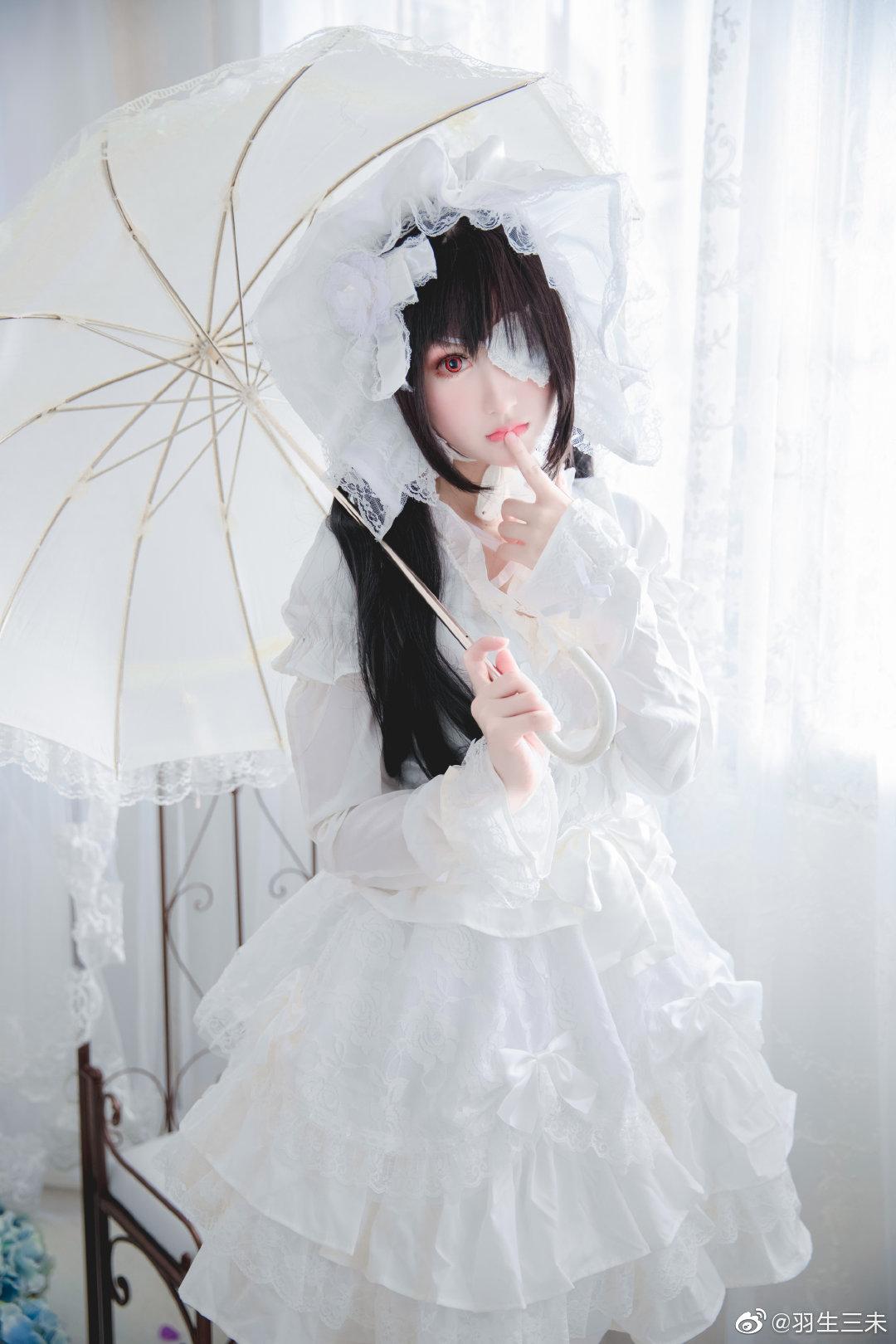 时崎狂三白洋装Cosplay(10P)