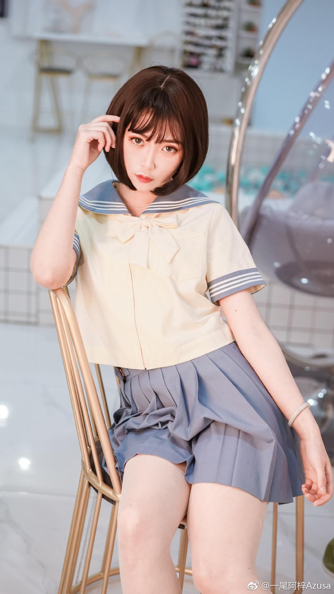 一尾阿梓Azusa微博近期图片收集,好漂亮的制服萌妹子(20P)