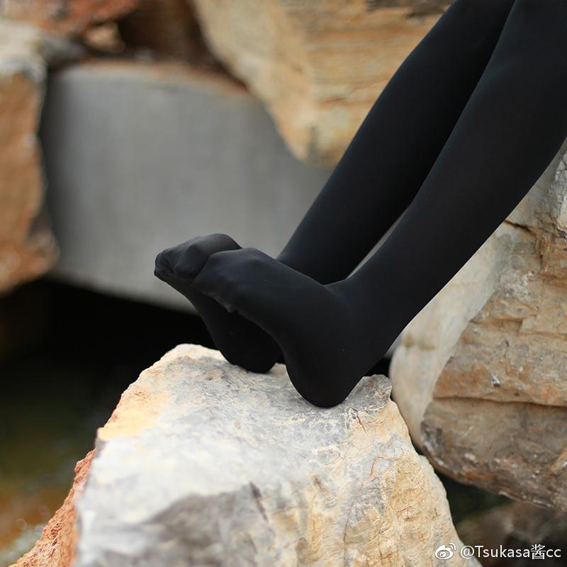 680D压力瘦腿袜,真的很紧啊 (9P)