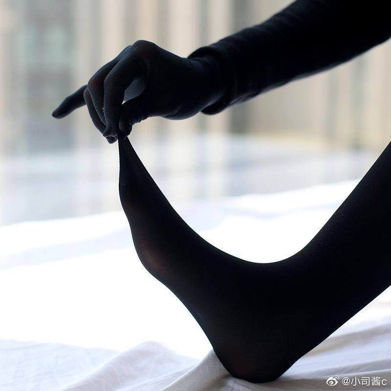 8D高密度黑色丝袜,质感还不错 绅士领域-第3张