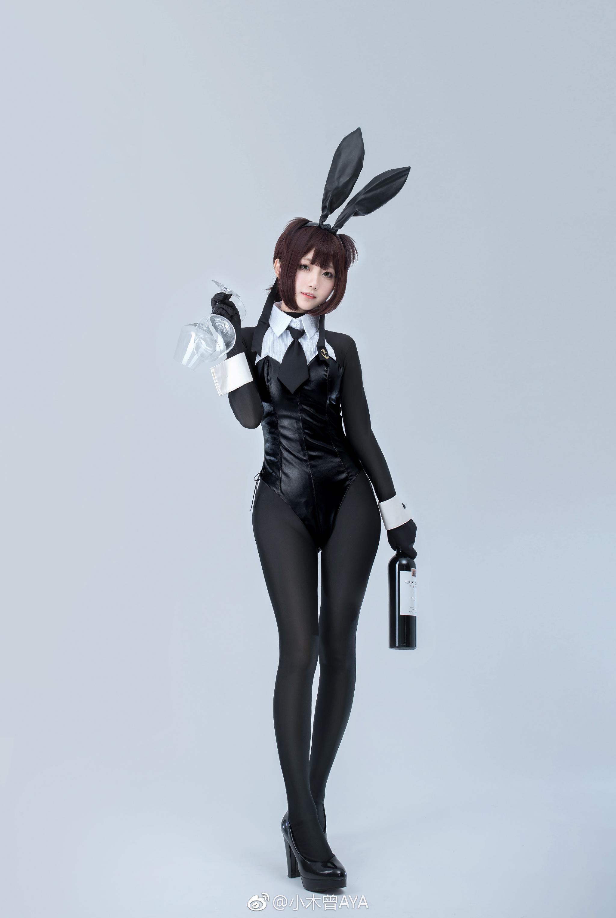 【萌妹子网】微博萌妹@小木曾AYA的兔女郎舰娘Cos(9P)