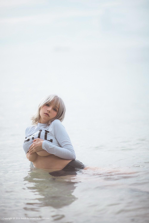 波萝社夏美酱写真在线看:夏美的海边风情(47P)