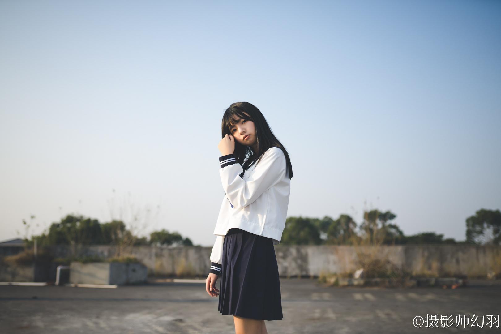 摄影师幻羽作品欣赏:JK制服少女-彤 美女写真-第1张