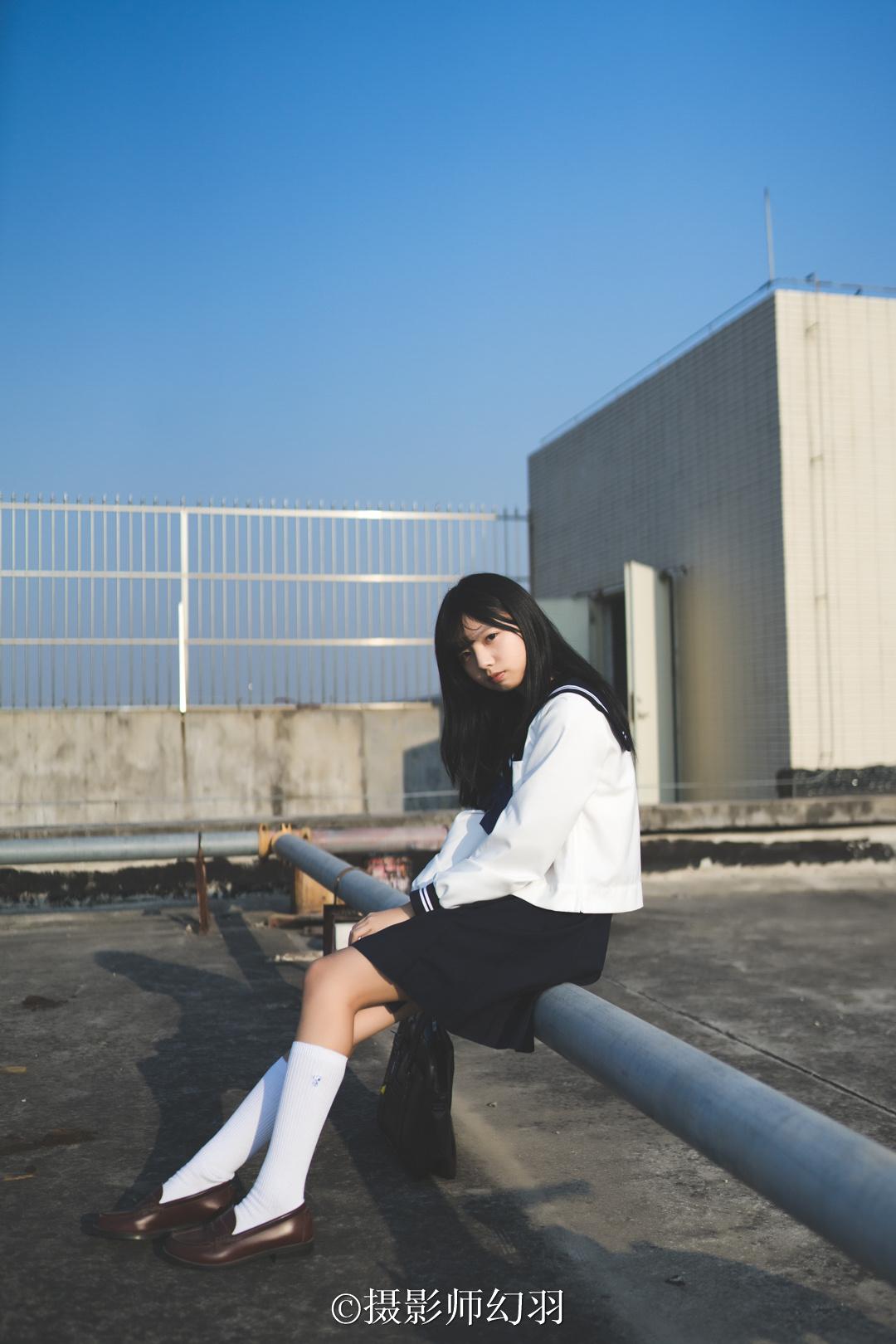 摄影师幻羽作品欣赏:JK制服少女-彤 美女写真-第3张