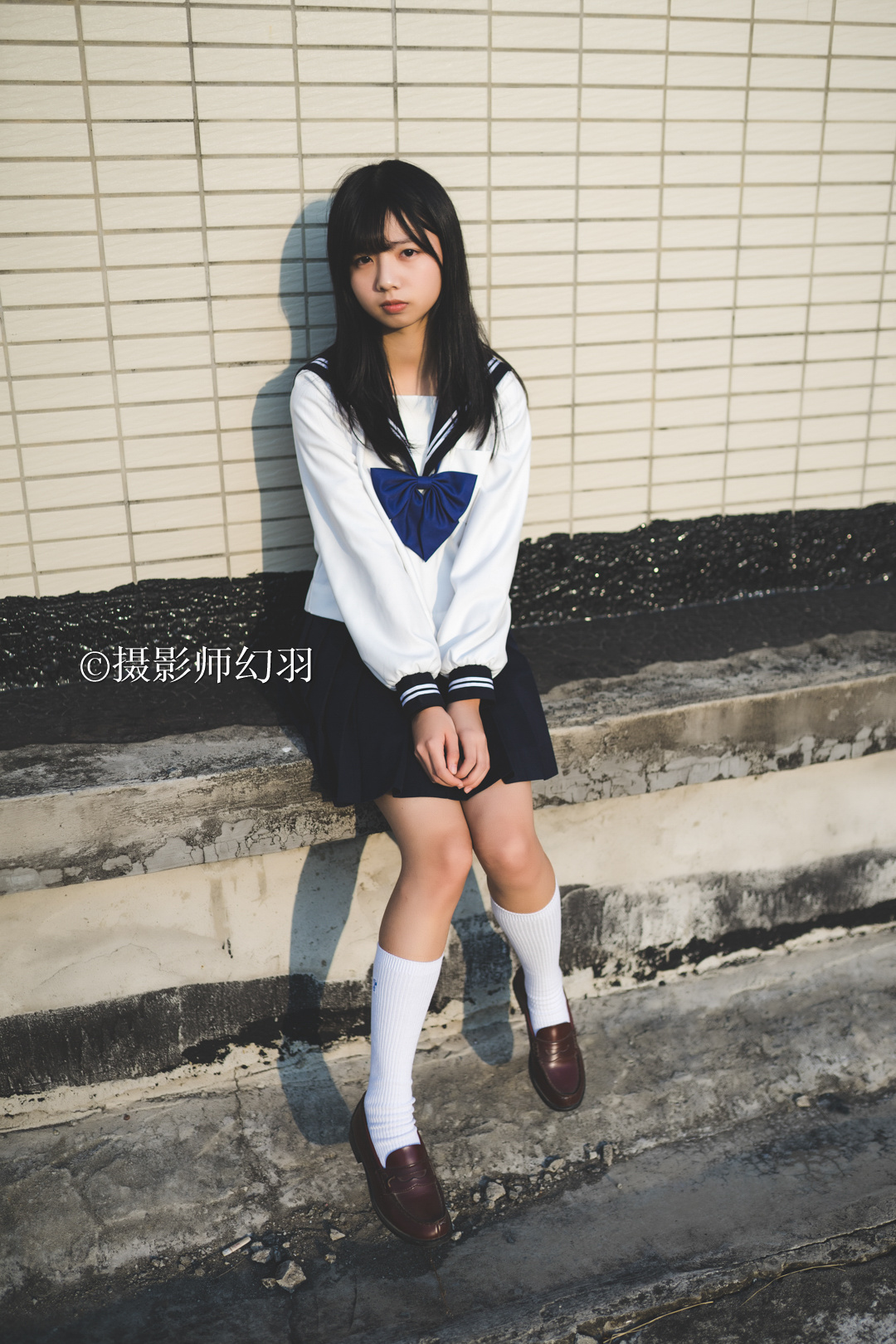 摄影师幻羽作品欣赏:JK制服少女-彤 美女写真-第2张