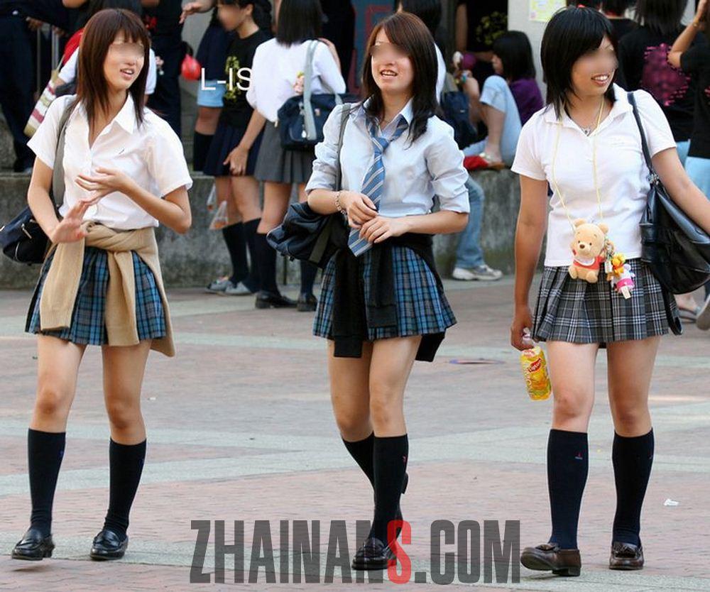 日本绅士(chihan)街拍(daoshe)的真实JK制服