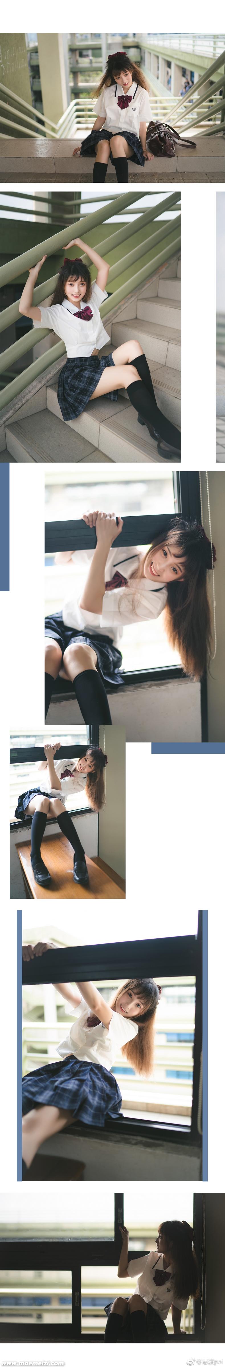 清纯的夏日JK制服少女@思涼poi(9P)
