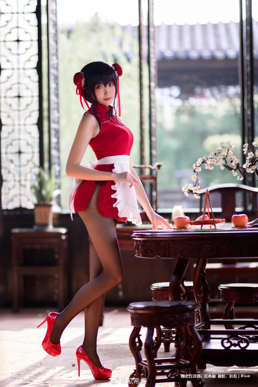 霞之丘诗羽旗袍cosplay Cosplay-第3张