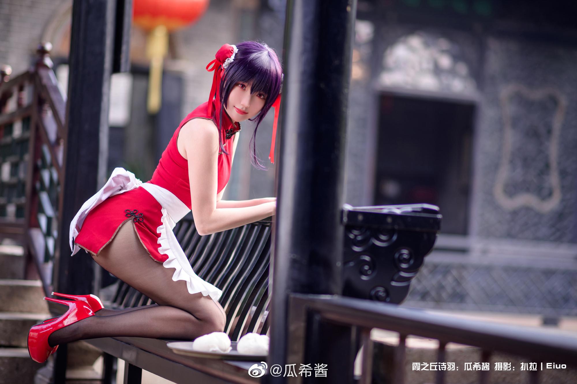 霞之丘诗羽旗袍cosplay Cosplay-第9张