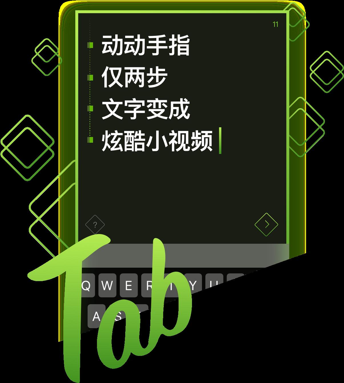 TAB:文字变视频