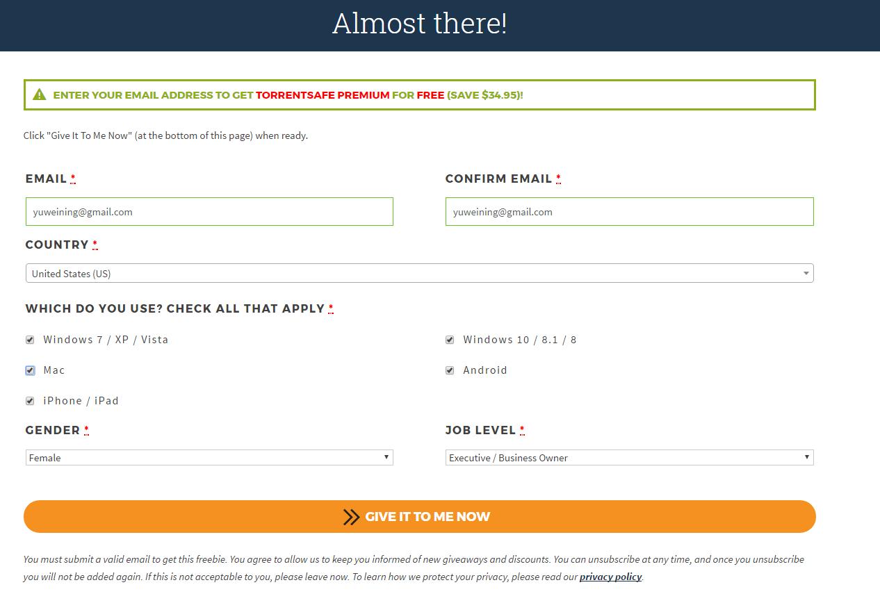 TorrentSafe离线下载:免费领取180天高级服务