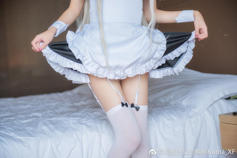 春日野穹妹的白丝福利女仆Cosplay(7P)