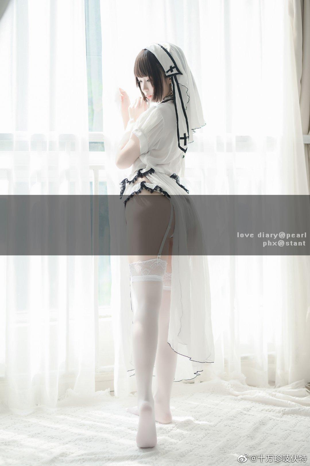 LOVE DIARY 白丝修女 Cosplay-第1张