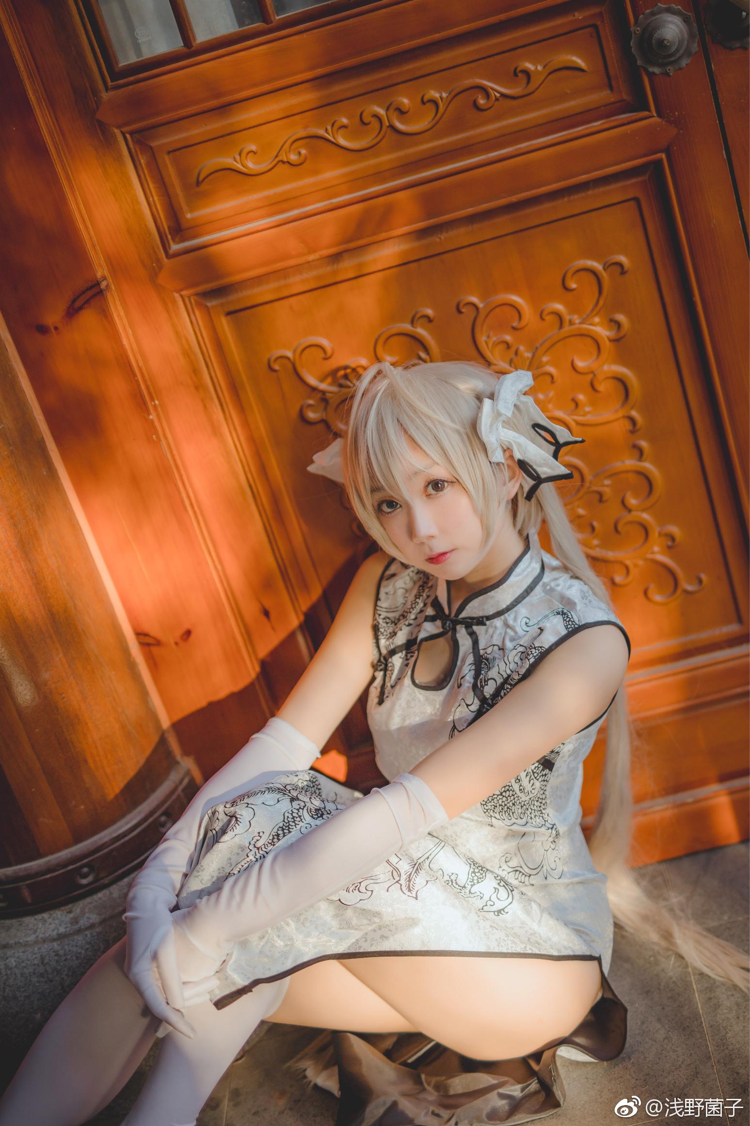 萌妹子Cosplay:缘之空穹妹的旗袍白丝福利(9P)