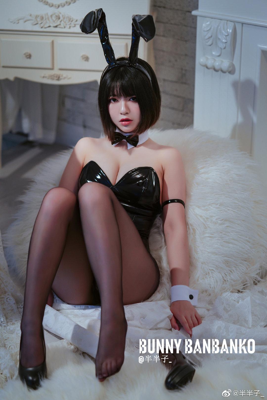 黑色短发兔女郎