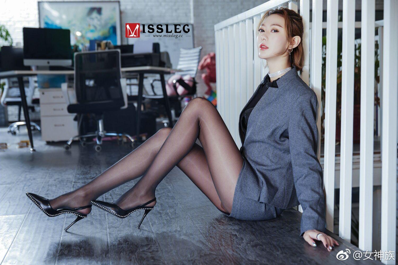 社会社会,一组Missleg的办公室黑丝美腿OL 美女写真-第3张