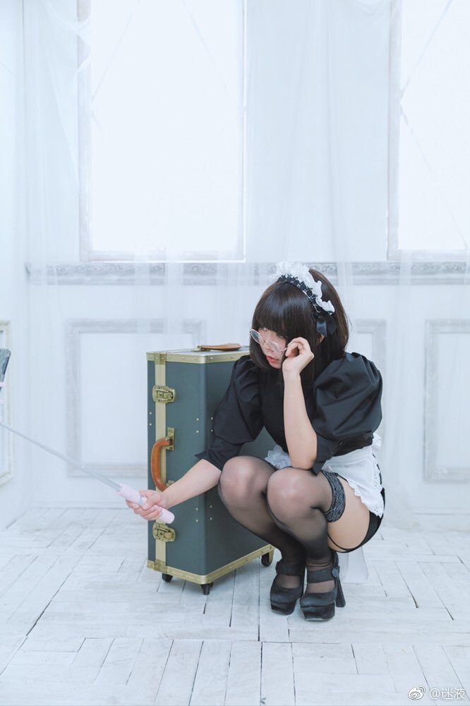 日本推特妹子Banko女仆装