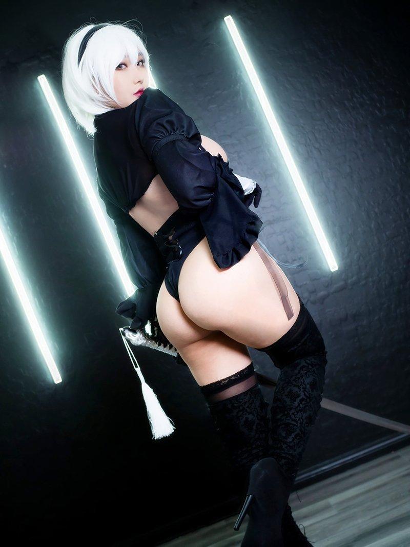 日本推特妹子K/DA Rinnie的2B小姐姐Cosplay