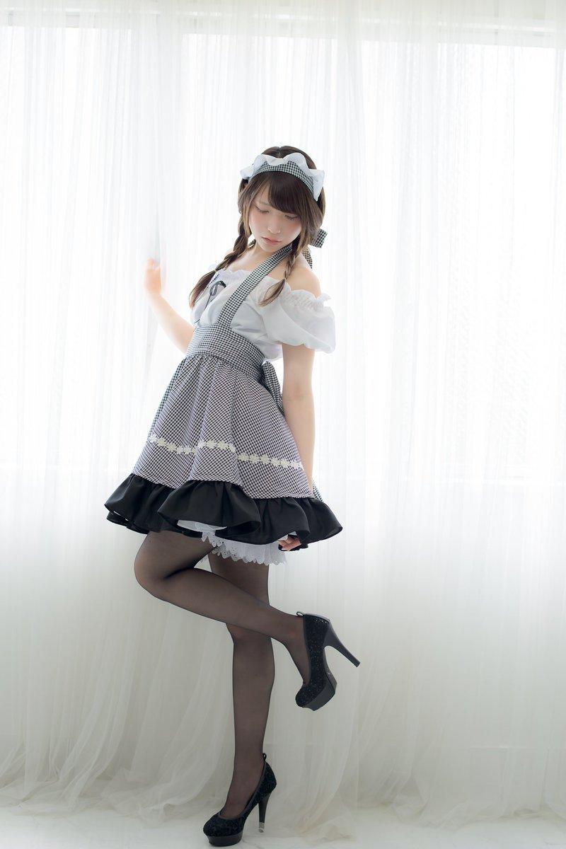 日本推特妹子あまつ様女仆装