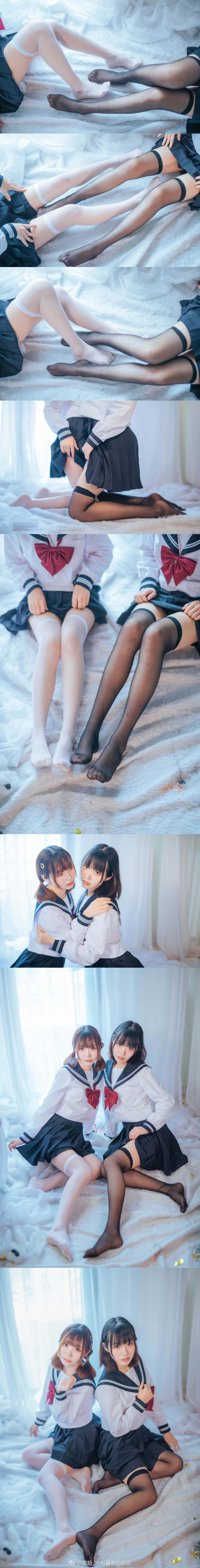 双子姐妹的制服福利,黑丝白丝任君选择(9P)