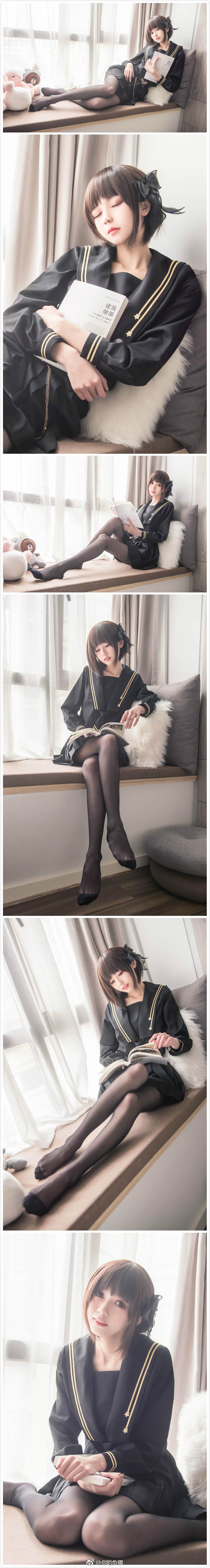 发现一个穿黑丝JK制服的小仙女
