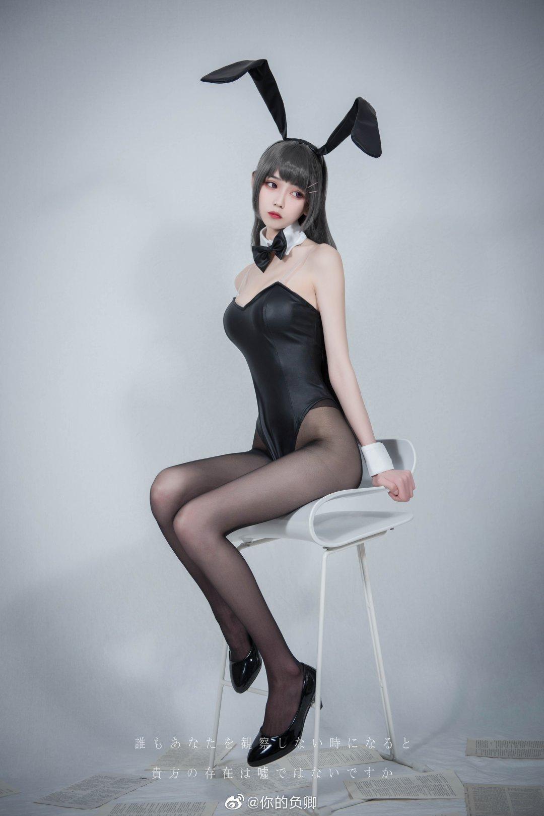 这个兔女郎学姐的腿太致命