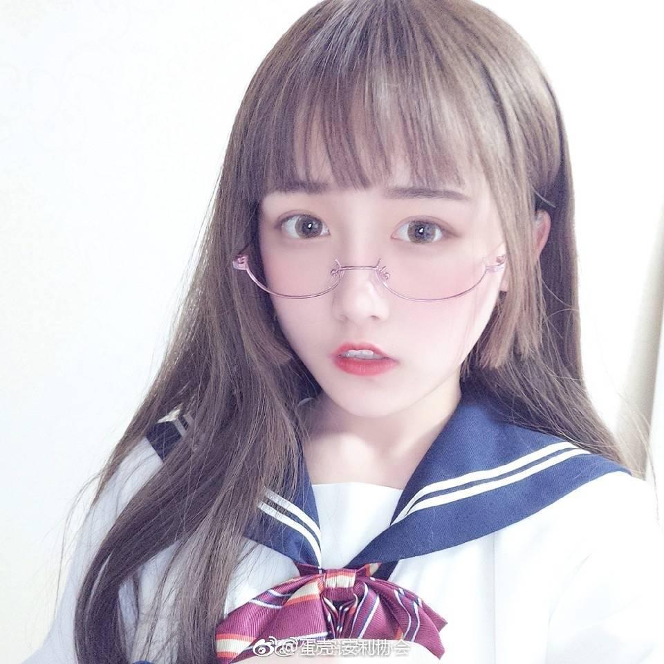安利一波萌萌哒眼镜少女 素人自拍-第18张